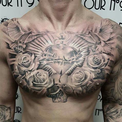 mens chest tattoo pin by brian brandon on tattoos