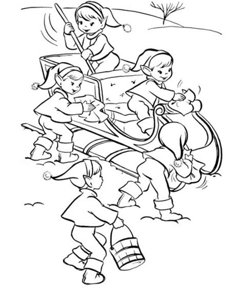 elf size coloring page free christmas elf coloring pages christmas coloring