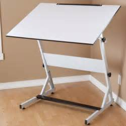drawing drafting adjustable table desk w shelf