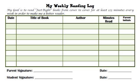 reading log grade 4 new calendar template site