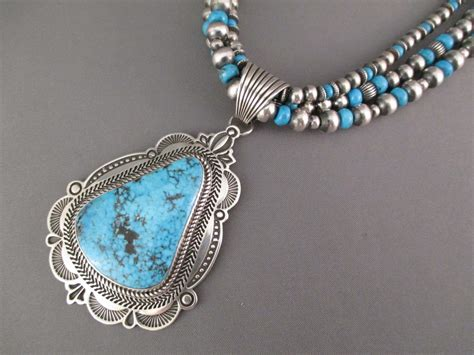 Turquoise Pendant Necklace ithaca turquoise pendant necklace by albert jake navajo