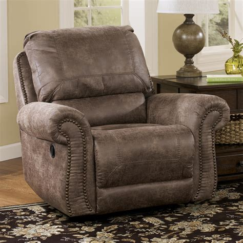 ashley furniture swivel recliner signature design by ashley oberson gunsmoke swivel