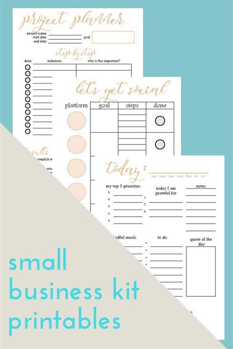 printable small business planner small business planner printable printable project