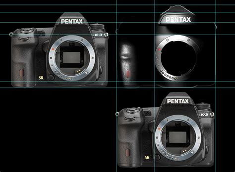 pentax frame size comparison between the new pentax frame and k 3