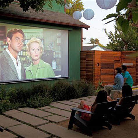 the backyard movie build a backyard movie theater the garden glove