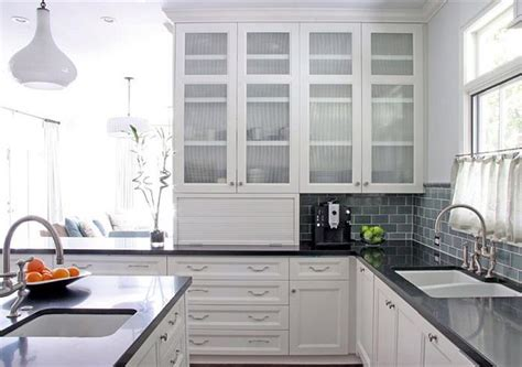 white kitchen glass cabinets 24 pictures of kitchens with glass cabinets