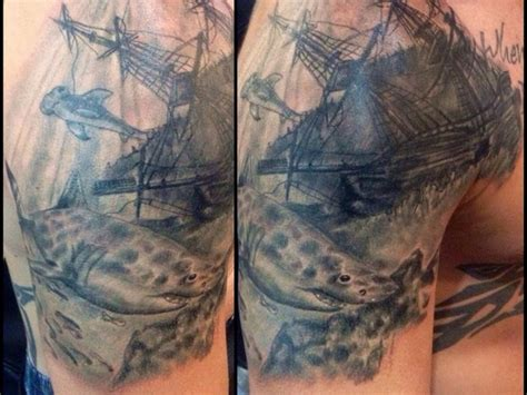sunken ship tattoos sunken ship