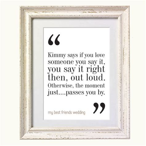 Wedding Quotes On Friendship by My Best Friends Wedding Quote Typography Print 8x10 On