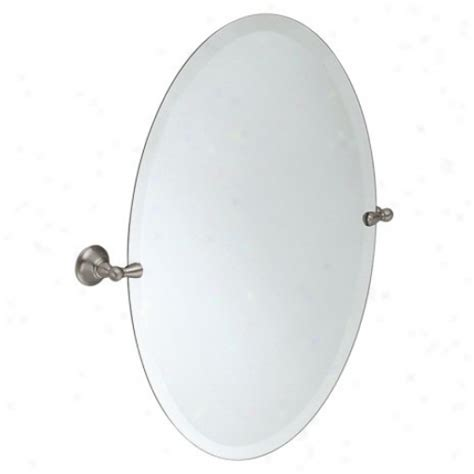 tilting bathroom mirror polished nickel moen dn6892bn sage oval tilting mirror brushed nickel