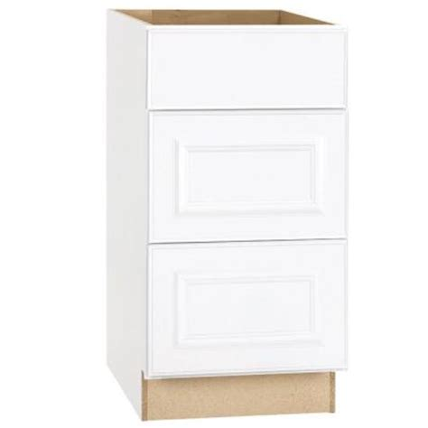 Kitchen Base Cabinets Home Depot Hton Bay 18x34 5x24 In Hton Drawer Base Cabinet With Bearing Drawer Glides In Satin