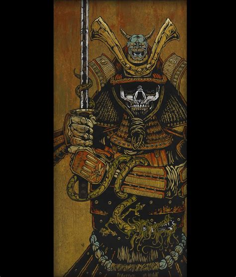 Muted Green by By The Sword Of The Samurai By David Lozeau Day Of The Dead