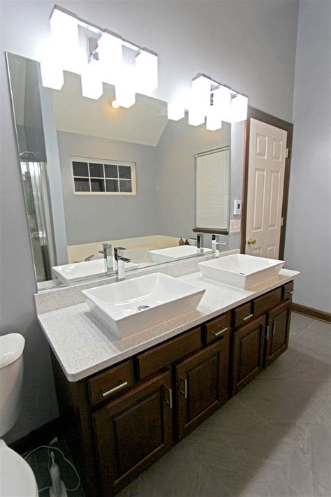 vessel countertops bathroom this master bathroom was updated with new cambria whitney