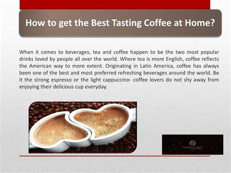 tasting the magic from a z the best food and beverages at walt disney world books ppt how to get the best tasting coffee at home