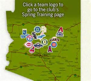 map of ballparks in arizona cactus leagues mlb events