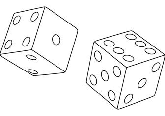 printable colour dice dice free coloring page