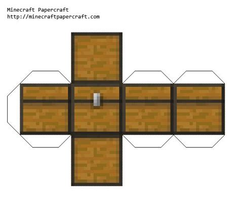 Minecraft Chest Papercraft - papercraft chest crafty crap papercraft