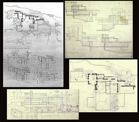 fallingwater floor plans falling water architecture images