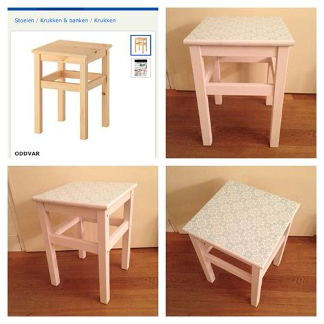 ikea hack oddvar turned into nightstand using mod podge wallpaper and white paint this took
