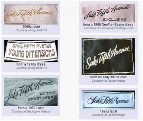 vintage clothes labels on vintage clothing