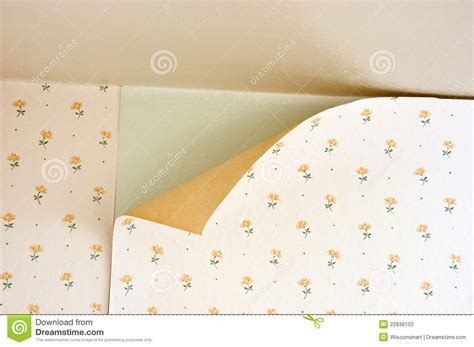 peel off wallpaper old peeling wallpaper home repair maintenance stock photos