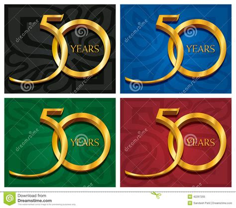 50 years golden jubilee stock vector image 42297205