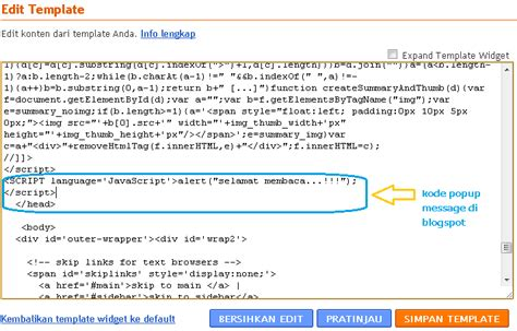 membuat popup html cara membuat popup message di blog