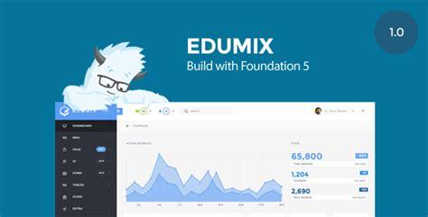 zurb html templates edumix foundation zurb admin dashboard template