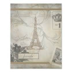 shabby chic posters shabby chic eiffel tower collage poster zazzle