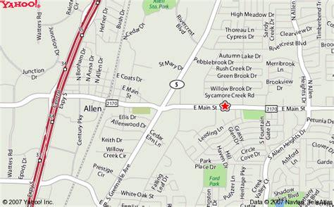 allen texas map map to puckett s
