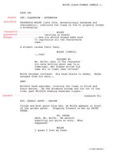 writing for film amp tv script format templates