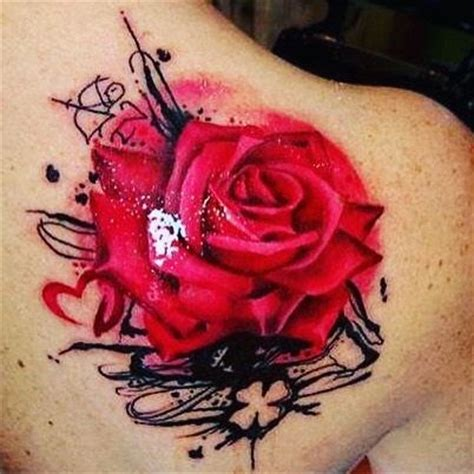 trash polka rose tattoo trash polka done by weide ancsa tattooartist