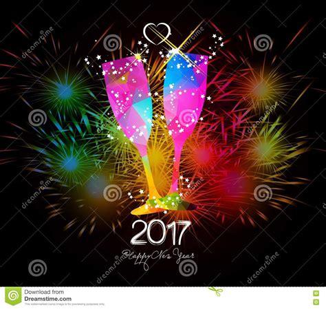 clipart fuochi d artificio fuochi d artificio buon anno 2017 e vetro variopinto