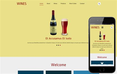 The Newest Miscellaneous Html Templates For Autumn 2016 Gt3 Themes Free Wine Website Templates