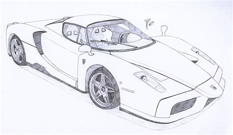 ferrari enzo sketch enzo ferrari by under18carbon on deviantart
