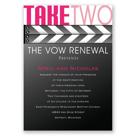 Wedding Vows Renewal Ideas by Take Two Vow Renewal Invitation Invitations By