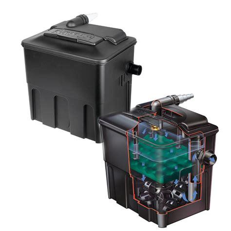 koi pond filter box hozelock ecocel 2500 fish pond filter system with media