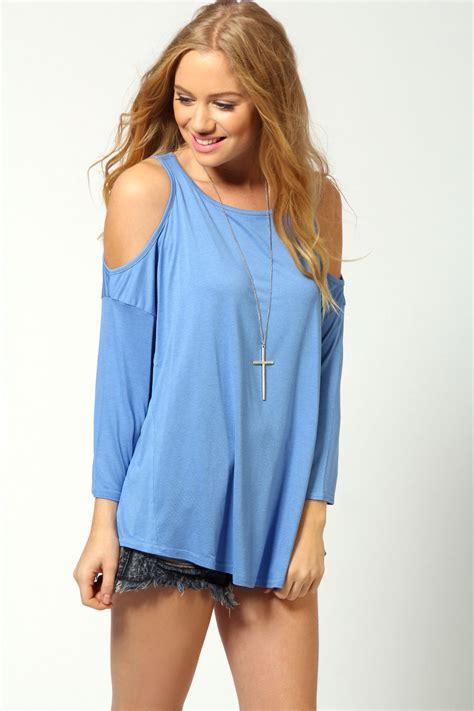 Shoulder Top Chullote boohoo womens cut out shoulder top ebay