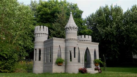 small castle u s man 3d prints mini castle sets sights on printing