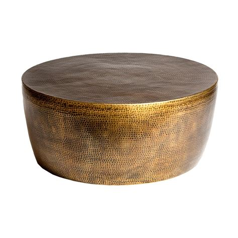 hammered aluminium coffee table taroudant industrial loft hammered brass coffee table 35d
