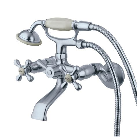 handheld faucet for bathtub shop elements of design chrome 2 handle bathtub and shower