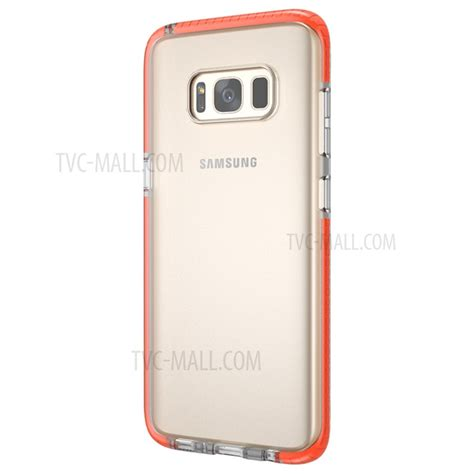 Samsung Galaxy S8 Plus Clear Back Tpu Air Softcase Hybrid Cover clear tpu back cover for samsung galaxy s8 plus g955 transparent orange tvc mall