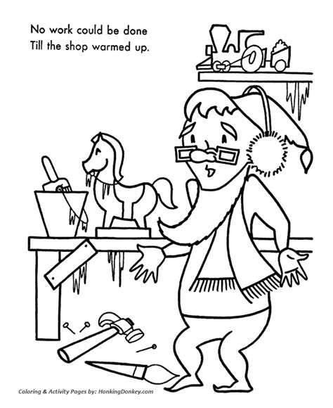 coloring pages of santa s workshop coloring picture of santa workshop coloring pages