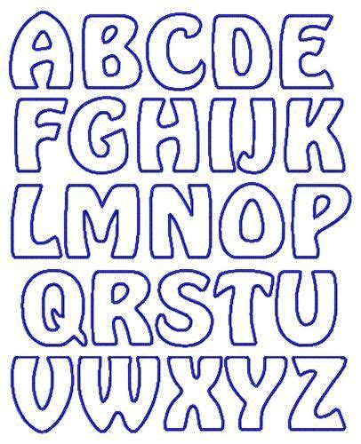 free printable outline fonts applique letter templates free google search letters