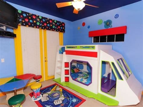 Buzz Lightyear Bedroom | buzz lightyear bunk bed with slide toy story bedroom
