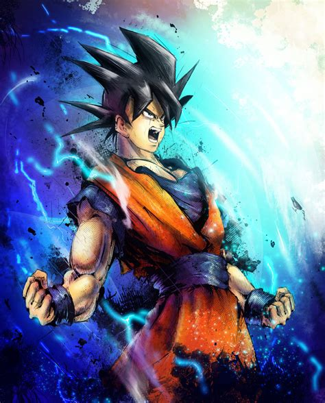 dragon ball z wallpaper portrait goku fan art goku photo 35792065 fanpop