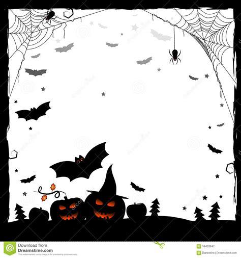 imagenes en blanco y negro de halloween ejemplo festivo para halloween marco blanco y negro