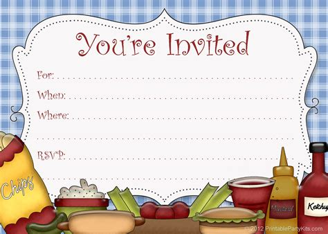 Free Printable Party Invitations Free Printable Picnic Announcement Artwork Free Picnic Invitation Template