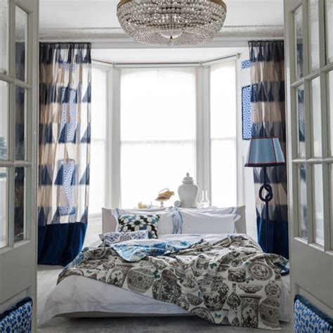 blue bedroom curtains ideas blue and white edwardian style bedroom bedroom