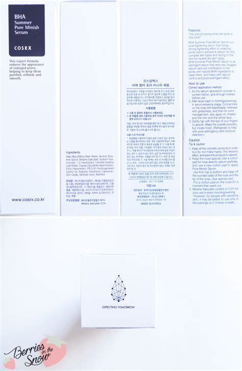 Bha Summer Pore Minish Serum 100ml review cosrx bha summer pore minish serum berries in