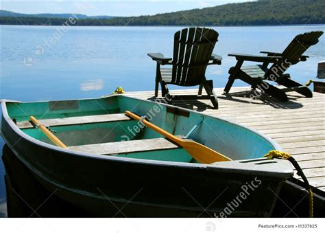 image  chairs boat dock